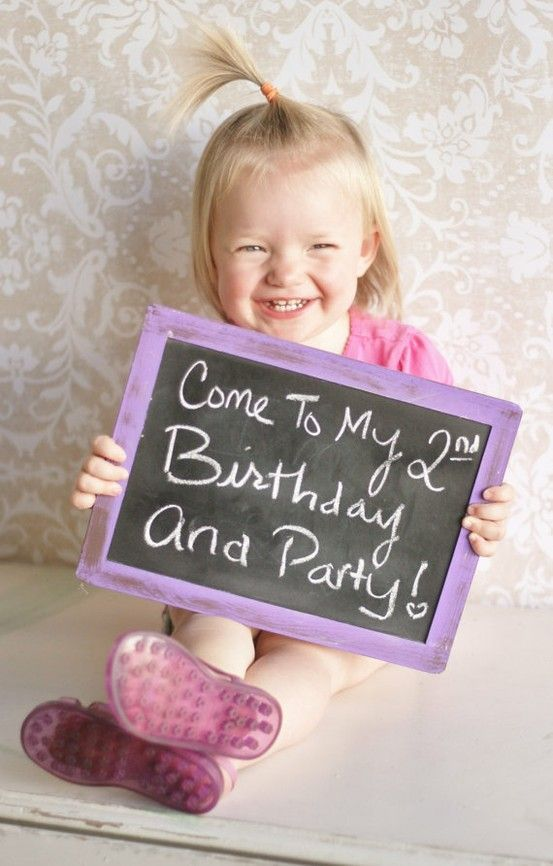2nd Birthday Party Click image to find more Photography – Toddler Girl Birthday Invitations