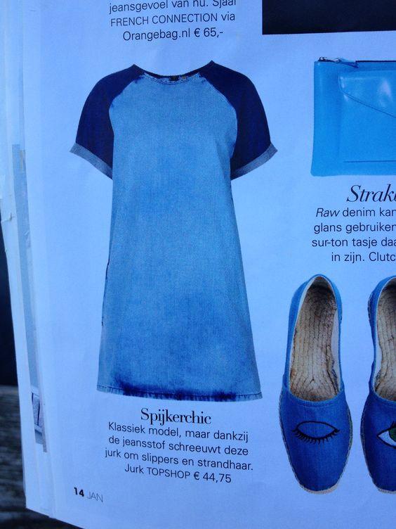 Jeans jurk topshop