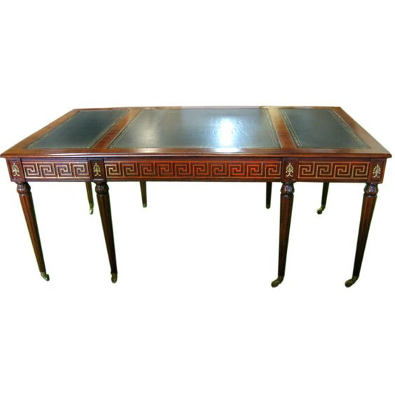 Regency style Partners Desk by Mario Buatta | From a unique collection of antique and modern desks at http://www.1stdibs.com/furniture/storage-case-pieces/desks/