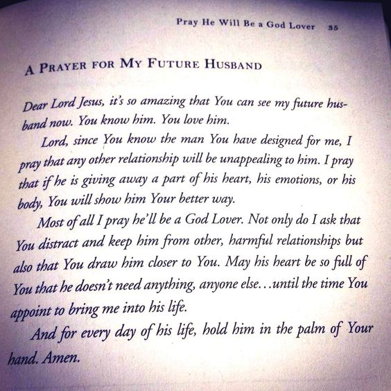 Prayer for my future husband! 1 of 2 :-)