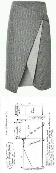 Юбка с креативным запахом (готовые выкройки) / Простые выкройки / ВТОРАЯ УЛИЦА: