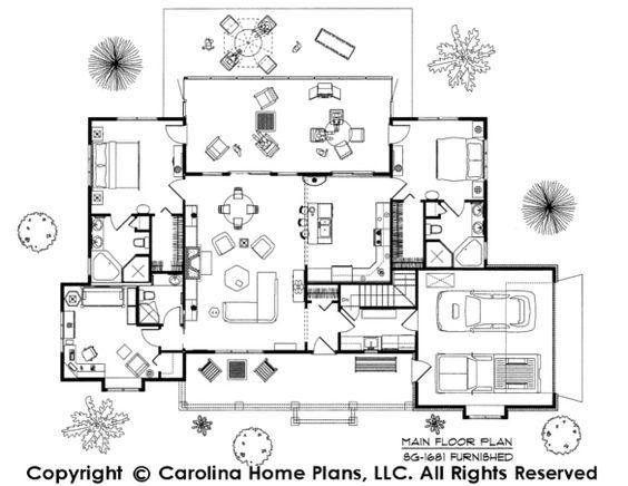 Dual Master Bedroom Floor Plans: Dual Master Suite Floor Plan SG-1681-AA By Carolina Home