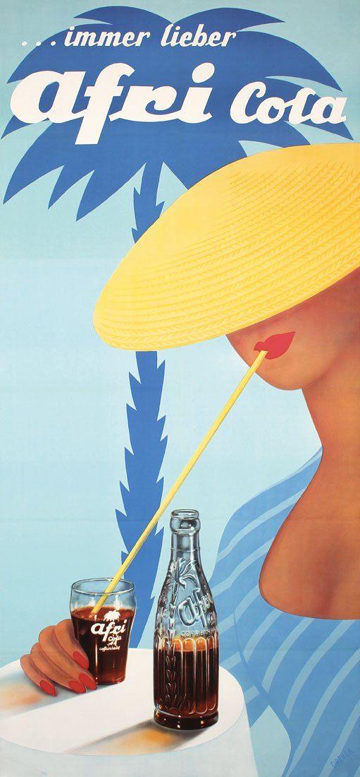 Afri Cola 1959 Dreyer Afri Cola Werbung Und Plakat
