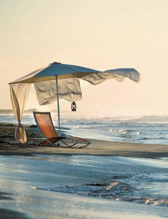 Lone chair on the beach