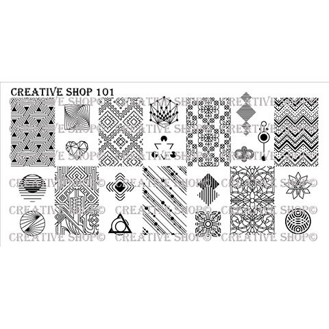 Creative Shop- Stamping Plate- 101