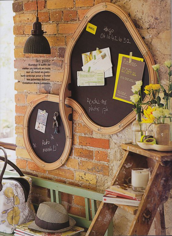 IKEA Lillabo train black board  - anne loiseau » Marie Claire Idées - tableau noir, train