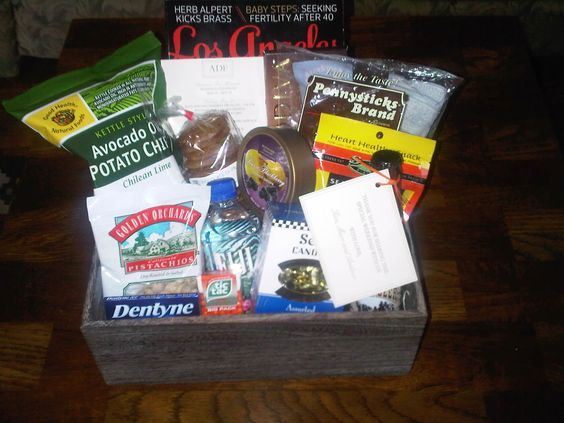 hotel gift box of goodies/snacks for out-of-town guests
