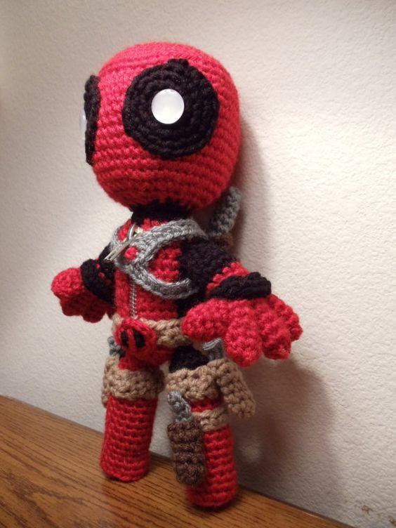 Crochet Wedding Dress Pattern Doll : Deadpool Sackboy Amigurumi -Crochet doll - FREE SHIPPING ...
