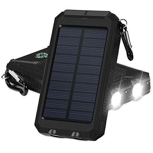 Solar Charger Grde 10000mah Dual Usb Ports Ip67 Waterresistant Portable Solar Power Bank Phone C Solar Charger Portable Solar Power Solar Powered Phone Charger