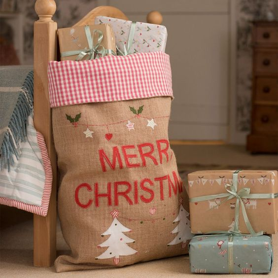 Christmas Sack -Trees-Susie Watson Design