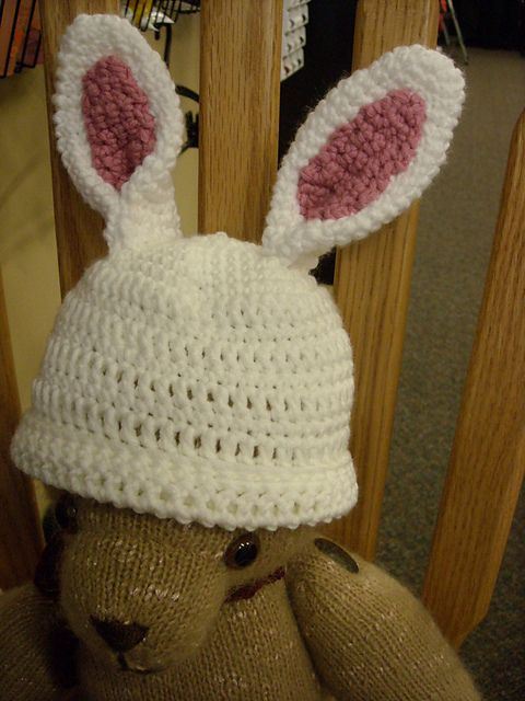 Free Crochet Pattern Easter Bunny Hat : Bunny hat, Hat patterns and Crochet bunny on Pinterest