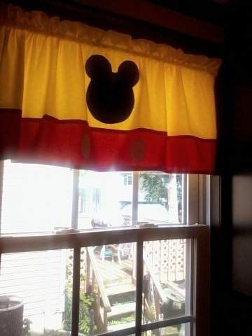 Hey, I found this really awesome Etsy listing at https://www.etsy.com/listing/182042973/mickey-mouse-curtain-valance