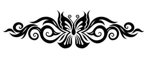 نتيجة بحث الصور عن زخرفة باابيض والاسود مشكلة Lower Back Tattoos Scroll Tattoos Back Tattoo Women