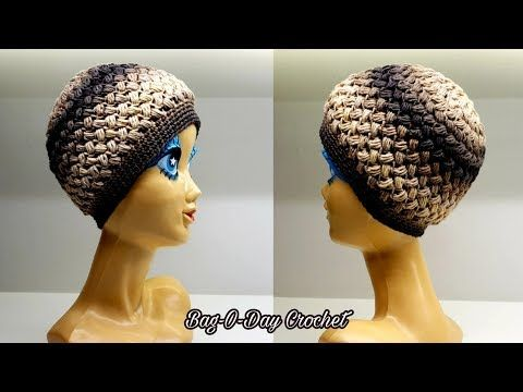 How To Crochet A Unisex Hat The Hot Cross Beanie Bag O Day Crochet Tutorial 547 Youtube Crochet Tutorial Crochet Beanie Easy Crochet