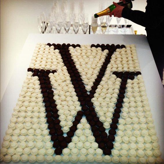 monogramed cupcake display