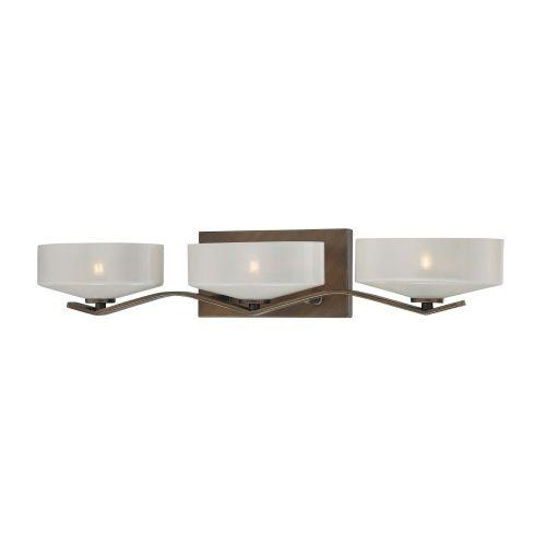 Minka Lighting M4223296 Eclanté 3 Bulb Bathroom Lighting - Eclanté Patina Bronze at Ferguson.com $119.06