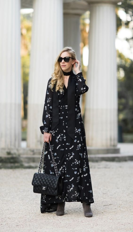 25 Ways to Wear Maxi Dress in Winter - Fashiondioxide