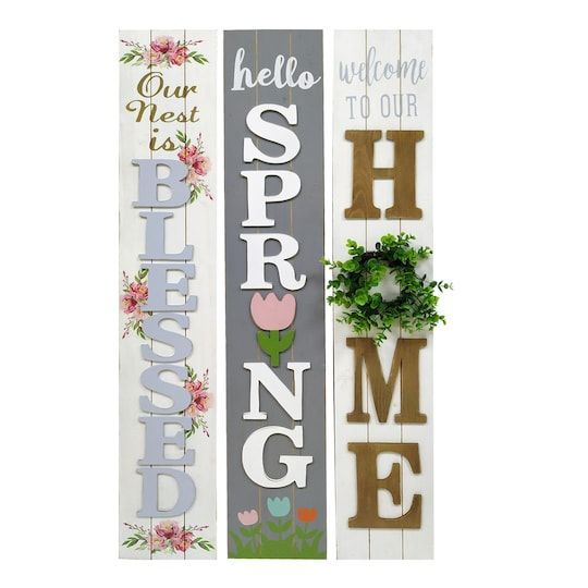 Assorted Spring Porch Sign By Ashland Porch Signs Diy Porch Outdoor Wood Signs