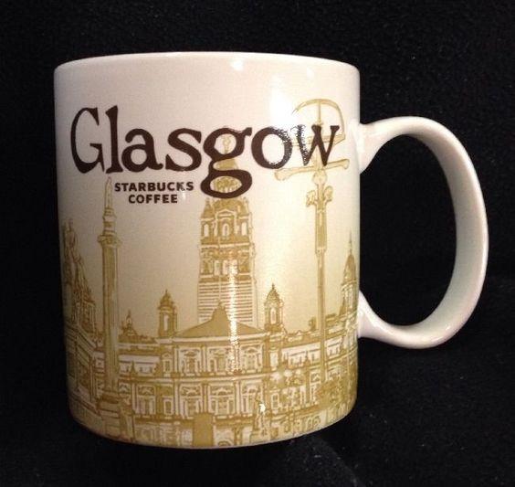 Starbucks Scotland Uk City Global Icon 16 Oz Coffee Tea Mug Rare