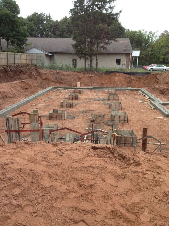 October 5th 2012 - A quick follow-up to yesterday's photo.   Our new North Haven office is making progress. The foundation was poured this morning. We're on our way to Montowese Avenue!