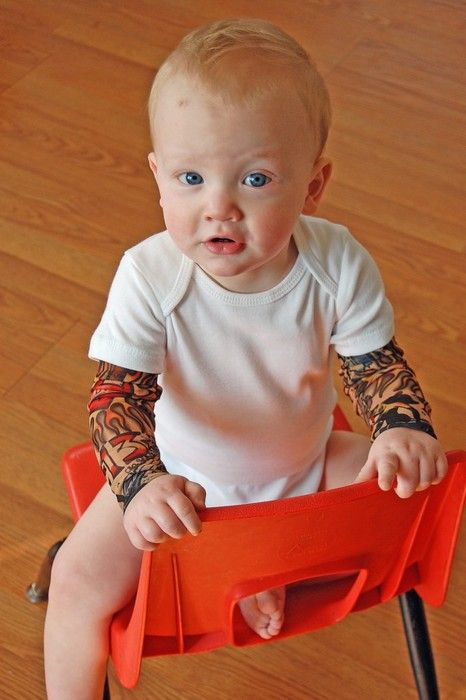 Onesie with tattoo sleeves