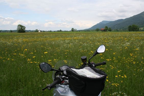 Beautiful meadow and a motorcycle - perfect <3