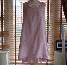 Fab Lagenlook Quirky Linen Italian Dress Set RRP £59 OSFA Pink