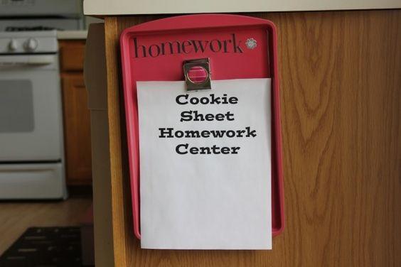 Magnetic Cookie Sheet Homework Center