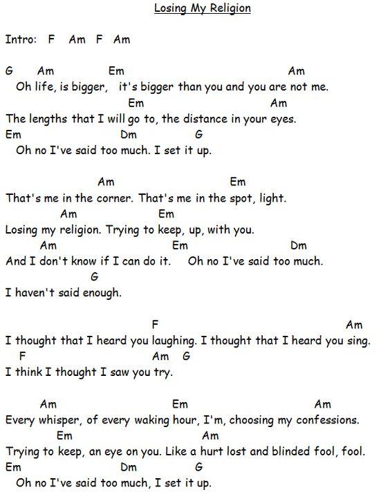 ▷ Losing My Religion - R.E.M. (aula de violão) - YouTube Guitar ...