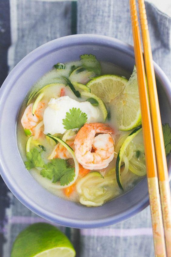 whole30 thai seafood coconut soup - Grits & Chopsticks