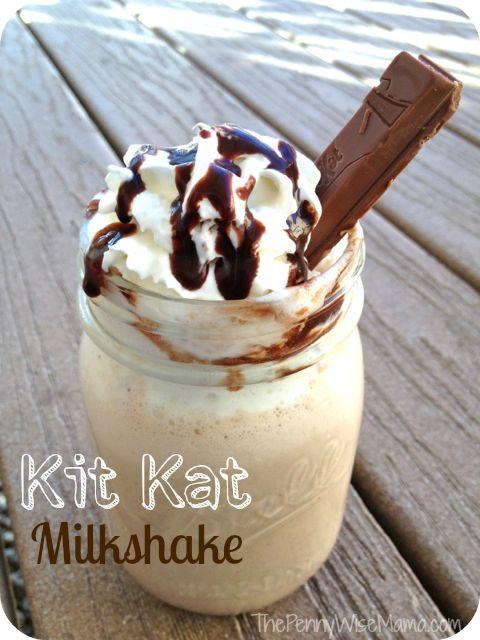 Kit Kat Milkshake Recipe + Hershey's Halloween Giveaway! | The PennyWiseMama
