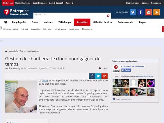 Gestion de chantiers : le cloud pour gagner du temps 14 janvier 2015
