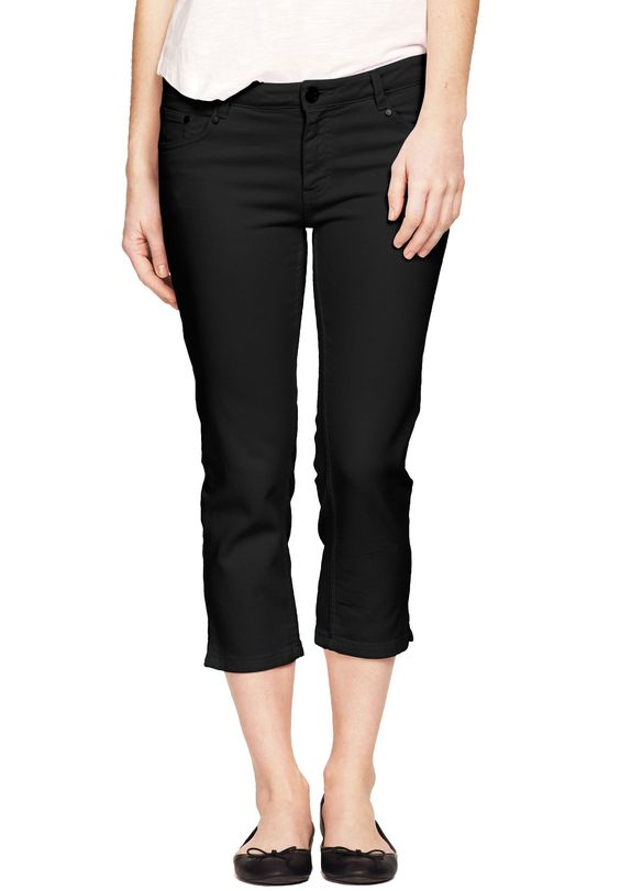 Plus Size 5-pocket stretch capris | From The Ground Up | Pinterest ...