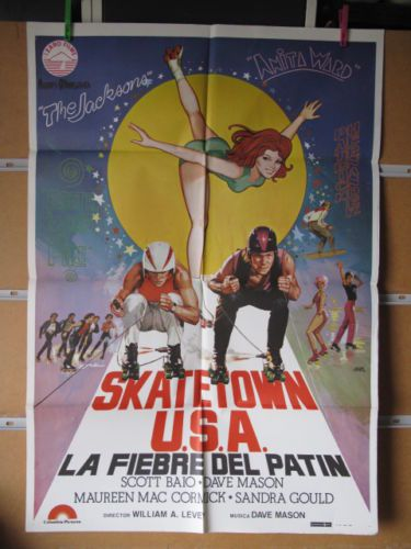 """Skatetown USA"" Italian Poster"