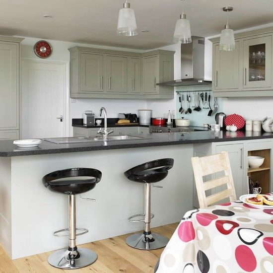 Open Plan Kitchen Breakfast Bar. Be inspired by this contemporary open plan kitchen  Contemporary kitchens Open and