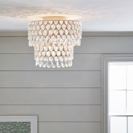Teardrop Flushmount Bedroom Ceiling Light Girls Bedroom