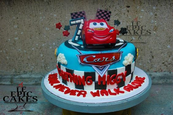Disney Cars Lightning McQueen single layer cake
