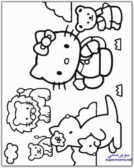 صور تلوين رسومات جديده للاطفال هاللو كيتى Hello Kitty Coloring Hello Kitty Drawing Kitty Coloring