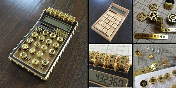 スチームパンクな電卓の工作でしたー。  「蒸氣社謹製・計算機 炎算(Enzan)」完成!  いえーい☆