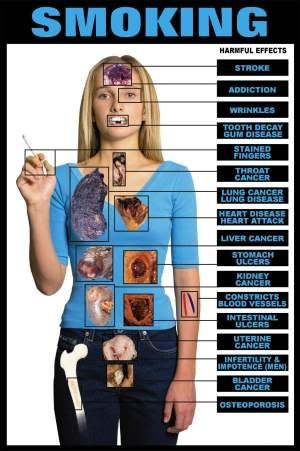 the harmful effects of smoking   harder to quit than heroin.