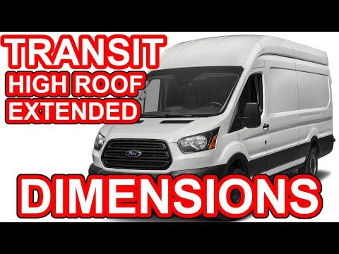 Ford Transit High Roof Extended 148 Wb 350hd Dimensions Youtube Ford Transit Ford Transitional