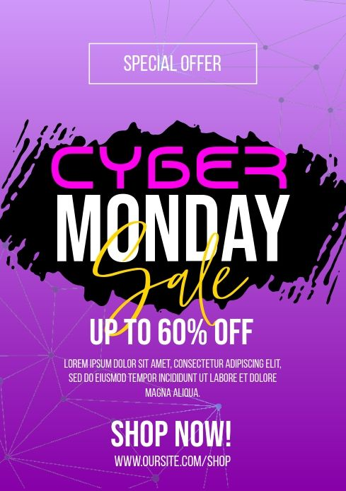Cyber Monday Sale Flyer In 2020 Sale Flyer Templates Cyber
