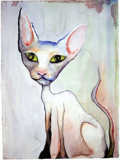 Lily White - watercolor by Marilyn Manson @abbeywilliams66