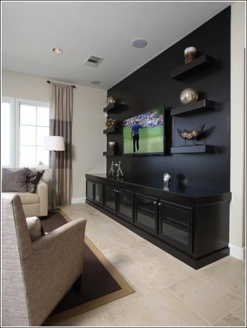 Modern Living Room Wall Mount Tv Design Ideas Living Room Tv Wall Media Room Design Living Room Theaters #tv #design #in #living #room