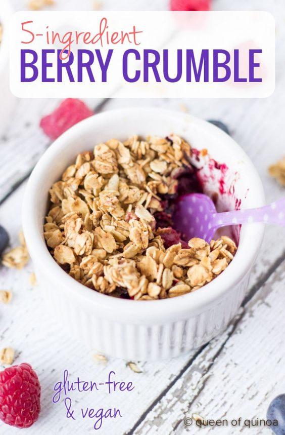 5-ingredient Mixed Berry Crumble (+ a giveaway) - Queen of Quinoa | Gluten-free + Quinoa Recipes