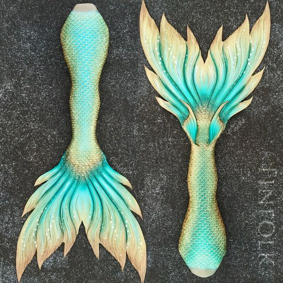 """Finfolk Productions #mermaidtail #finfolk #finfolkproductions -  The tail named """"Atlantis"""""""