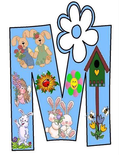 Dibujos de letras de primavera para imprimir , aqui las tienes una a a una para que las puedas imprimir, hacel un cartel en el cole...para ...