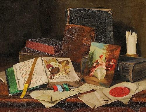 Romek Arpad    Still Life with Books    20th century