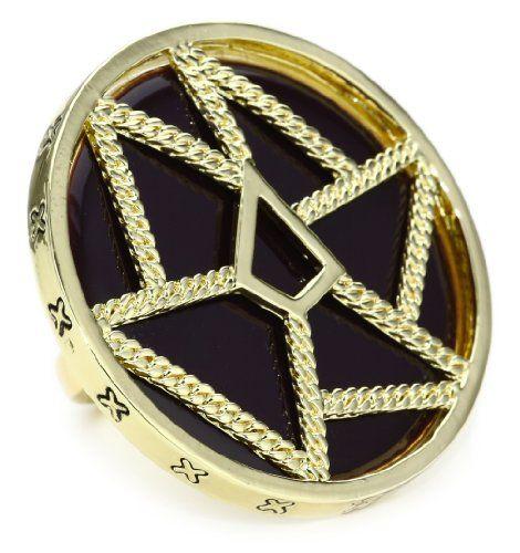 Belle Noel Purple Enamel Dream Catcher Ring - Belle, Catcher', DREAM, ENAMEL, Noel, Purple, Ring - http://designerjewelrygalleria.com/belle-noel/belle-noel-purple-enamel-dream-catcher-ring/