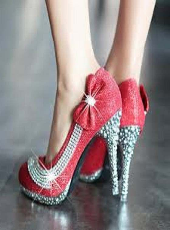 120 Latest Red Color High Heels Sandals